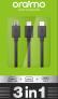 Oraimo cable OCD-X101 3in1 2A black